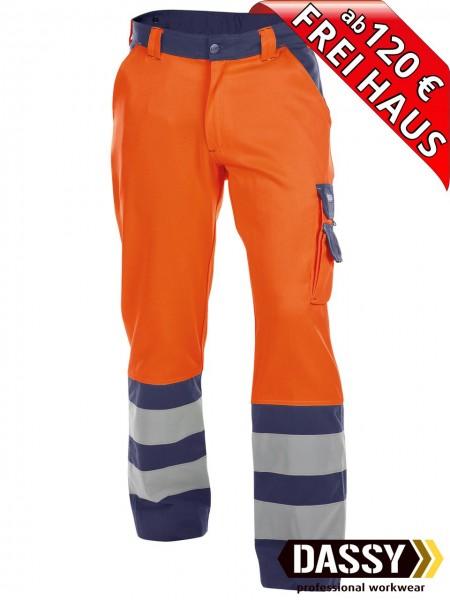 Warnschutz Bundhose Arbeitshose LANCASTER DASSY 200612 orange/blau