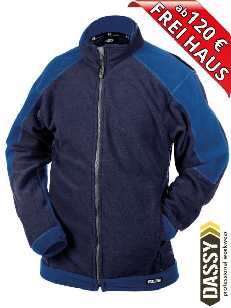 Fleecejacke zweifarbig Jacke KAZAN DASSY Fleece 300217 navy blau/royal