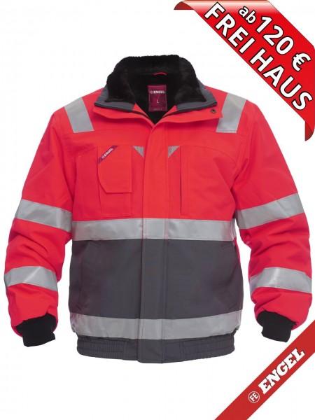 Warnschutz Winter Pilotjacke Jacke EN ISO FE ENGEL 1172-928 rot grau