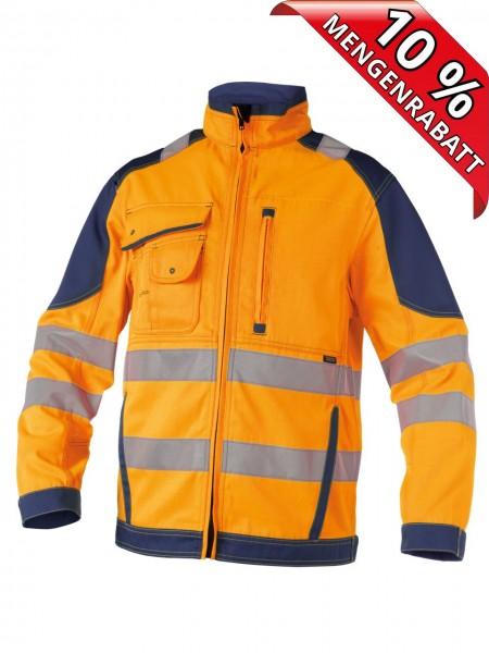 Warnschutz Arbeitsjacke Bundjacke ORLANDO DASSY 300367 orange/blau