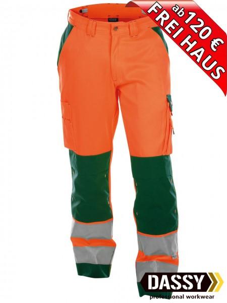 Warnschutz Bundhose Kniepolster BUFFALO DASSY 200431 orange/grün