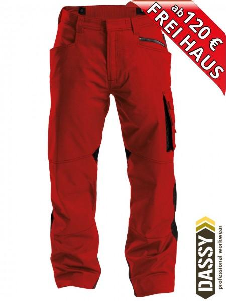 Arbeitshose Service Bundhose DASSY® Spectrum D-FX 200892 rot