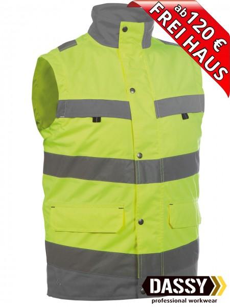 Warnschutz Weste Bodywarmer BILBAO DASSY 350100 gelb/grau Innenweste