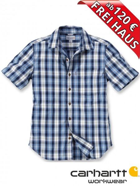 Carhartt Hemd kurzarm SLIM FIT kariert PLAID SHORT Shirt 102100 Blau