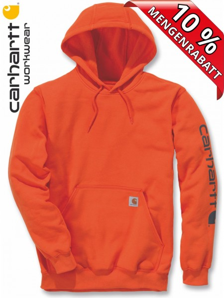 Carhartt Hooded Sweatshirt Kapuzenpulli Hoodie Shirt Druck K288 orange