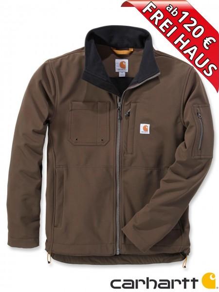 Carhartt Rough Cut Jacket Stretch Nylon Jacke Softshelljacke 102703 braun