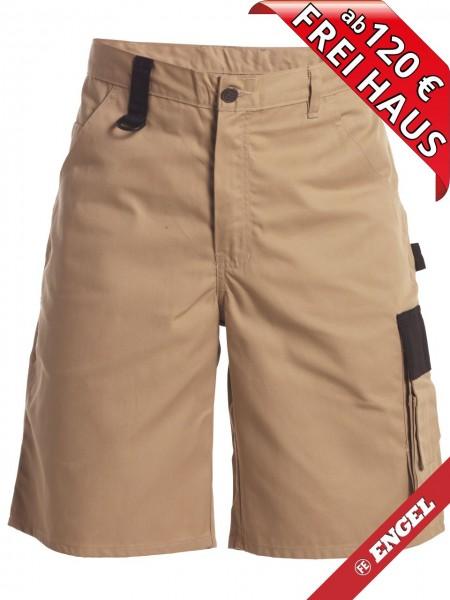 Shorts zweifarbig kurze Arbeitshose Light FE ENGEL 6270-740 khaki/schwarz