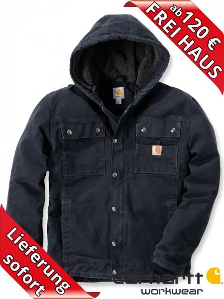 Carhartt Sandstone Barlett Jacke Winterjacke 102285 Sherpa-Futter schwarz