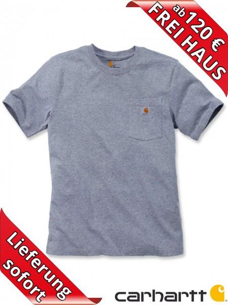 Carhartt schweres workwear T-Shirt Pocket Brusttasche 103296 heather grey