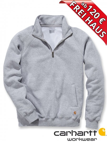 Carhartt Zip Sweatshirt Quarter Mock Neck Sweat Shirt K503 grau