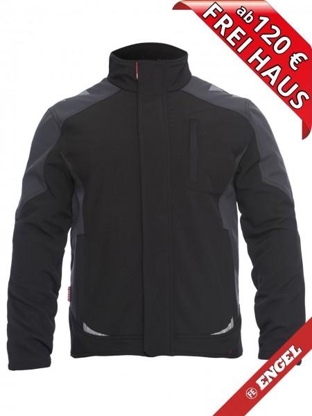 Softshell Jacke zweifarbig Workwear GALAXY 8810-229 FE ENGEL schwarz grau