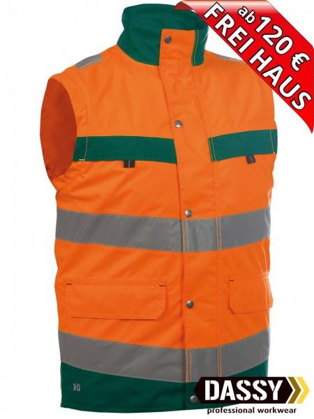 Warnschutz Weste Bodywarmer BILBAO DASSY 350100 orange/grün Innenweste