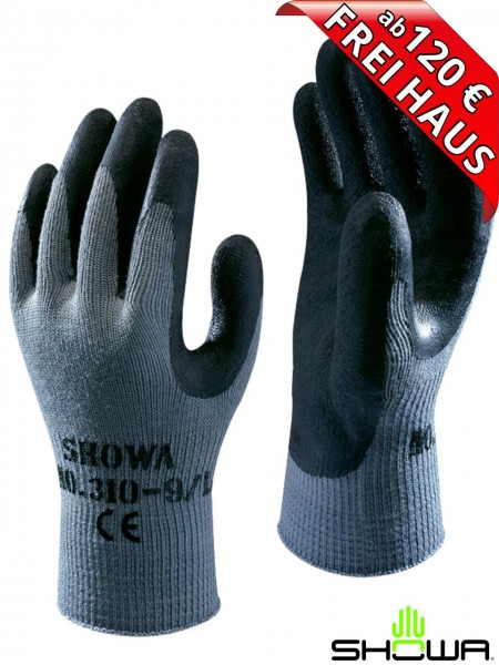 SHOWA 310 Top Grip Arbeitshandschuh schwarz Latex 178310 Handschuh black
