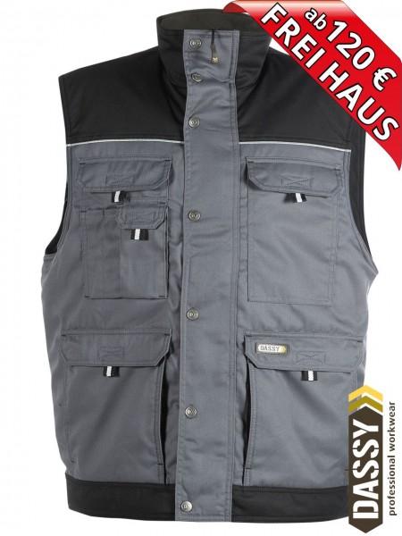 Arbeitsweste Fleecefutter Weste grau/schwarz HULST DASSY 350051