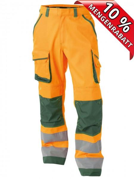 Warnschutz Bundhose Kniepolster CHICAGO DASSY 200807 orange/grün