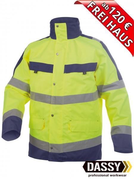Warnschutz Regenjacke Parka Jacke ATLANTIS DASSY 300346 gelb/blau