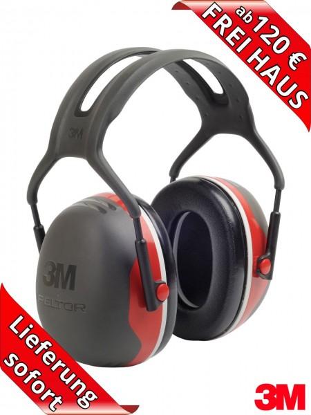 Gehörschützer 3M PELTOR Kapselgehörschutz X3A - SNR 33 dB(A) rot