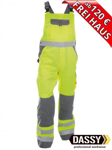 Warnschutz Latzhose Kniepolster TOULOUSE DASSY 400127 gelb/grau