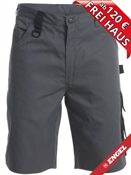 Shorts zweifarbig kurze Arbeitshose Light FE ENGEL 6270-740 grau/schwarz