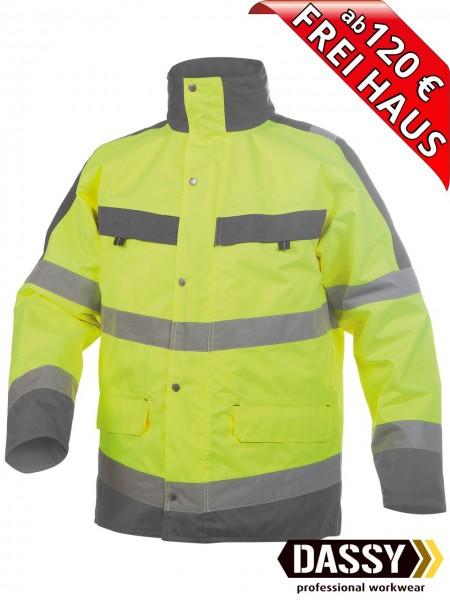 Warnschutz Regenjacke Parka Jacke ATLANTIS DASSY 300346 gelb/grau