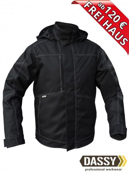 Winterjacke Pilotjacke Jacke DASSY® MINSK 300411 wasserdicht schwarz