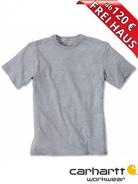 Carhartt T-Shirt Maddock Short Sleeve Workwear Shirt 101124 grau