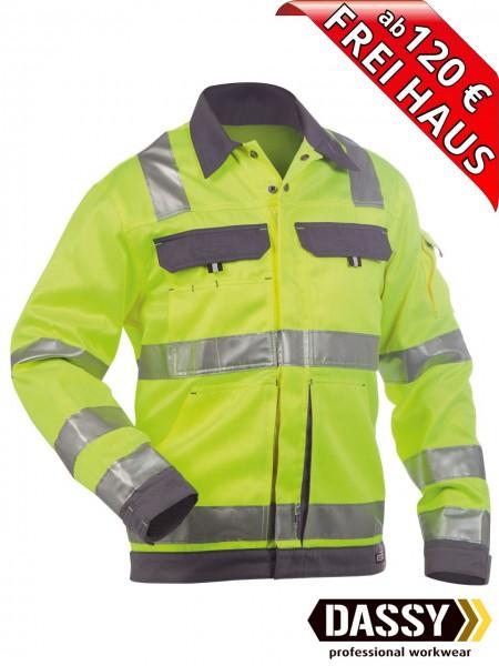 Warnschutz Arbeitsjacke Jacke DUSSELDORF DASSY 300184 gelb/grau