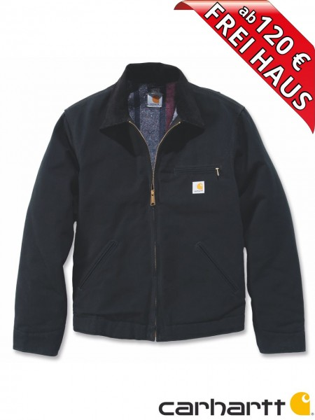 Carhartt Duck Detroit Jacket Wolldeckenfutter Baumwoll Jacke EJ001 schwarz