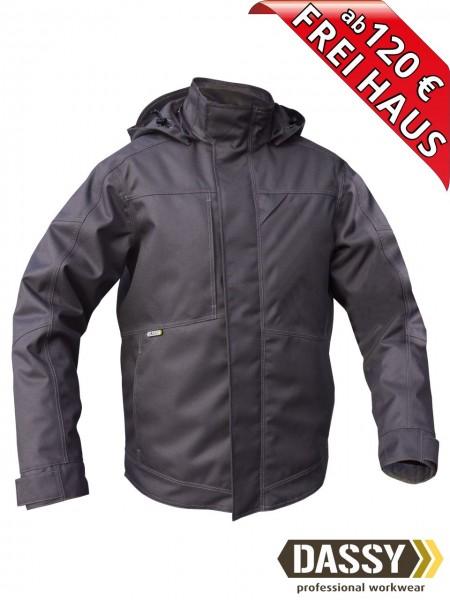 Winterjacke Pilotjacke Jacke DASSY® MINSK 300411 wasserdicht grau