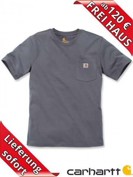 Carhartt schweres workwear T-Shirt Pocket Brusttasche 103296 charcoal