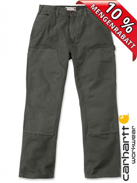 Carhartt EB136 moss grün Arbeitshose Washed Duck Double-Front Work