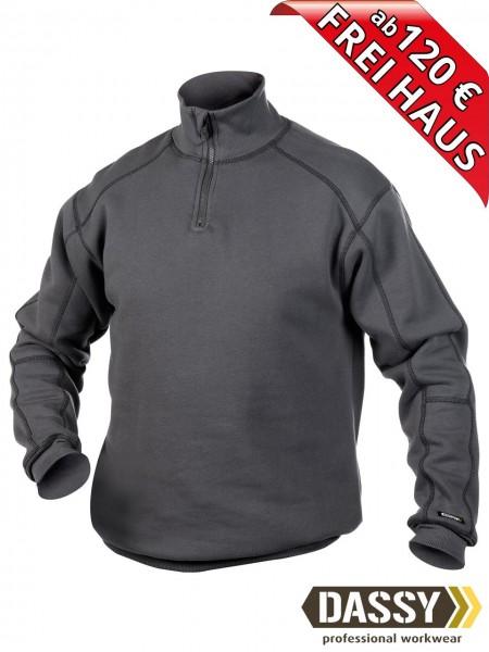 DASSY® Felix Zip Sweatshirt hoher Kragen Reißverschluss 300270 grau