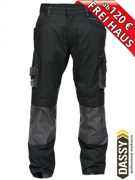 Arbeitshose Bundhose DASSY® Nova Kniepolster D-FX 200846 schwarz