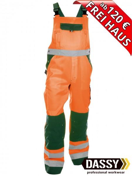 Warnschutz Latzhose Kniepolster TOULOUSE DASSY 400127 orange/grün