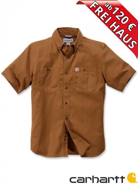 Carhartt Stretch Hemd kurzarm Rugged Flex Work Shirt 103555 braun