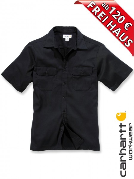 Carhartt Hemd kurzarm Twill Short Sleeve Work Shirt S223 schwarz