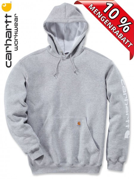 Carhartt Hooded Sweatshirt Kapuzenpulli Hoodie Shirt Druck K288 hellgrau