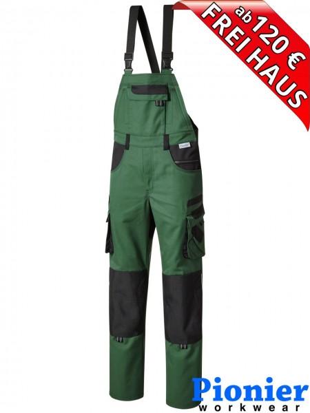 Latzhose TOOLS PLUS Pionier Workwear 15437 285 g/m² grün / schwarz