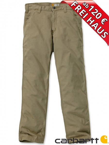 Carhartt Rugged Flex® Rigby Dungaree leichte Stretch Hose 102291 khaki