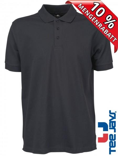Stretch Herren Polo Shirt Deluxe 1405 Tee Jays dunkelgrau