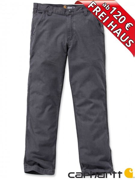 Carhartt Rugged Flex® Rigby Dungaree leichte Stretch Hose 102291 grau