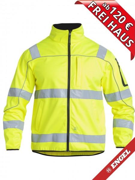 Warnschutz Softshelljacke Safety Jacke EN ISO 20471 FE ENGEL 1153-237 gelb