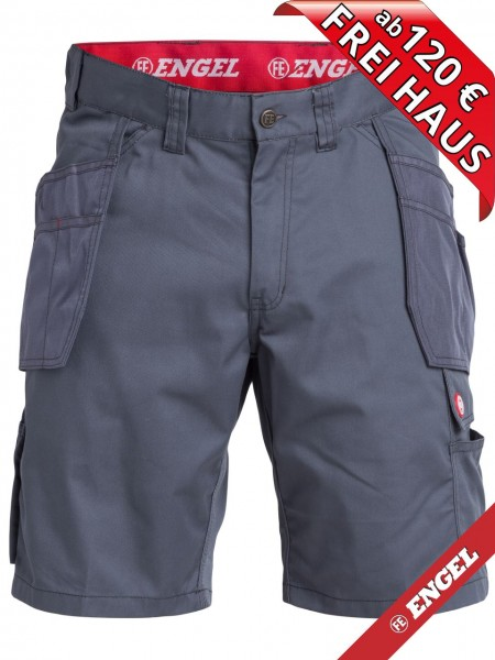 Shorts kurze Arbeitshose Holstertasche COMBAT FE-ENGEL 6761-630 grau