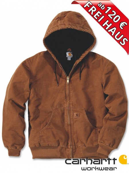 Carhartt Quilted Flannel Lined Sandstone Winter Jacke J130 Braun