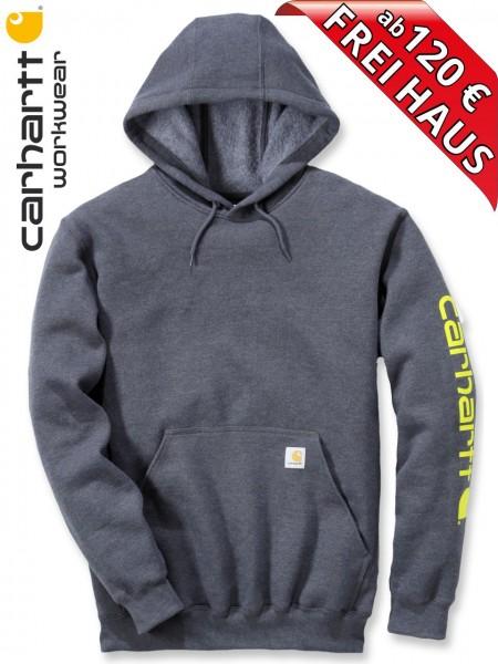 Carhartt Hooded Sweatshirt Kapuzenpulli Hoodie Shirt Druck K288 charcoal