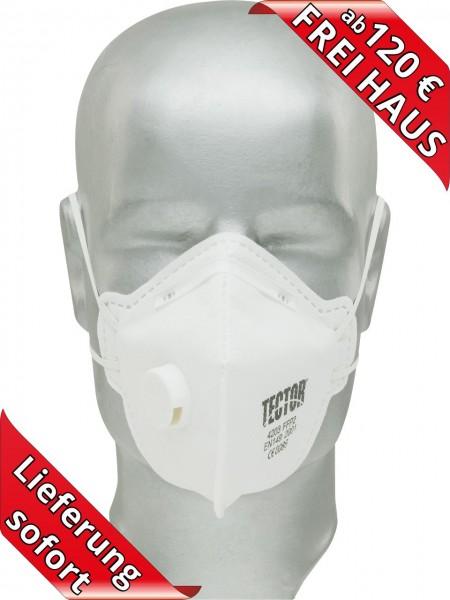 Feinstaubmaske FFP2 mit Ventil Atemschutzmaske Tector 4203