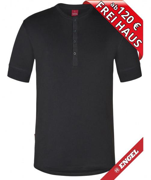FE ENGEL T-Shirt kurzarm Knopfleiste FEINRIPP Shirt 9256-565 anthrazit