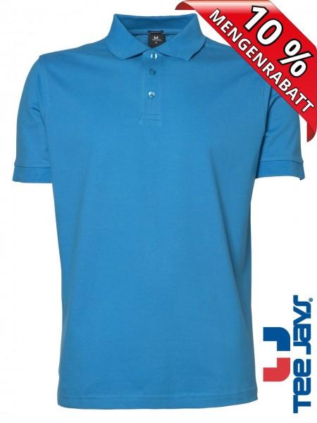 Stretch Herren Polo Shirt Deluxe 1405 Tee Jays azure blau
