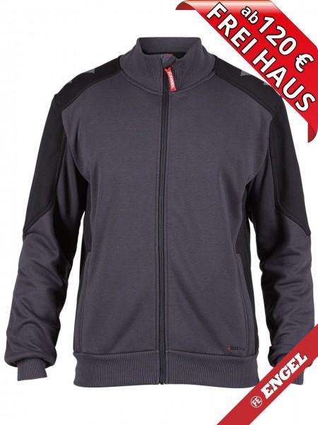Sweat Jacke Cardigan Sweatshirtjacke GALAXY 8830-233 FE ENGEL grau schwarz