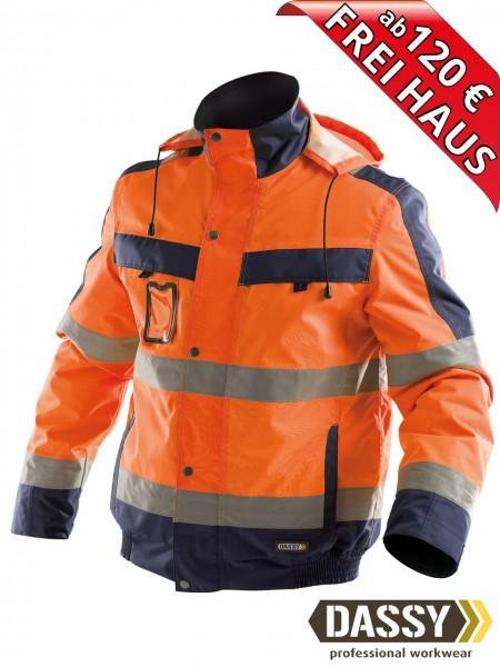 Warnschutz Winterjacke wasserdicht Jacke DASSY® Lima 500120 orange/blau